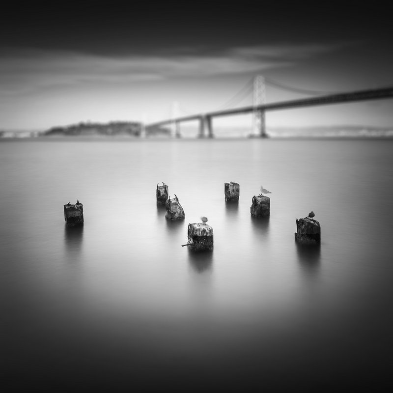 "Seria ""AQAL Views:, Bay Bridge Pillars, San Francisco, USA."