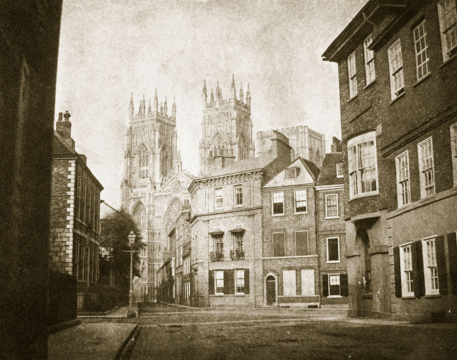 Katedra York Minster, widok od strony Lendall Street, 1845 r., fot. William Henry Fox Talbot, © Bridgeman Art Library/FotoChannels